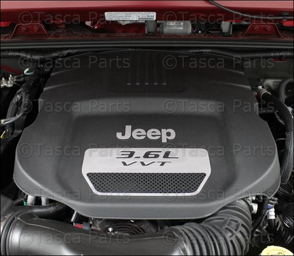 brand new mopar engine cover 2012 2013 jeep wrangler 3 6l engine 4593953ac ebay. Black Bedroom Furniture Sets. Home Design Ideas