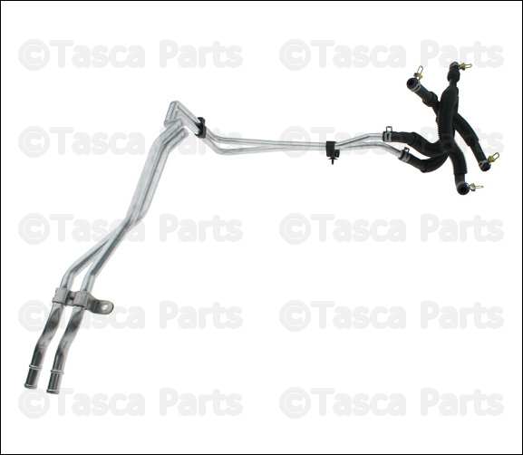 new oem heater supply  u0026 return hose dodge grand caravan