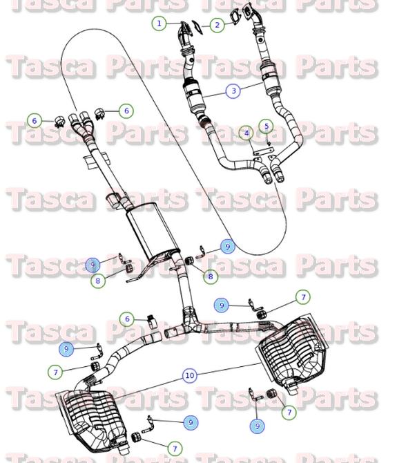 BRAND NEW GENUINE OEM EXHAUST SYSTEM HANGER BRACKET #4854575AA