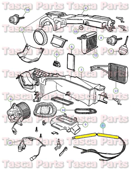 mopar av heater vacuum wiring harness 2002 2006 jeep wrangler 5073182aa ebay