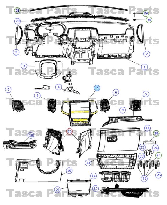 jeep grand cherokee oem parts