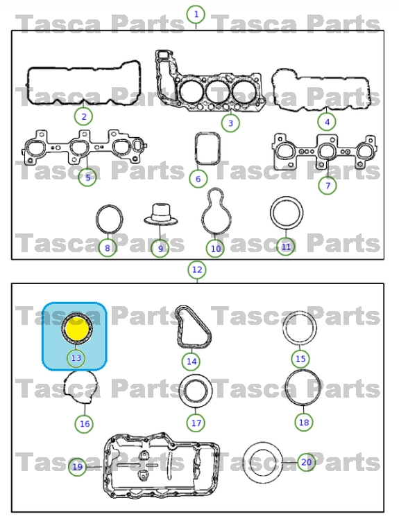 NEW MOPAR OEM ENGINE CRANKSHAFT OIL SEAL ASPEN DAKOTA DURANGO GRAND CHEROKEE