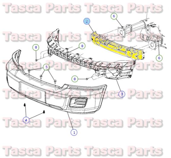 Dodge Oem Replacement Parts : Brand new oem mopar front bumper support  dodge