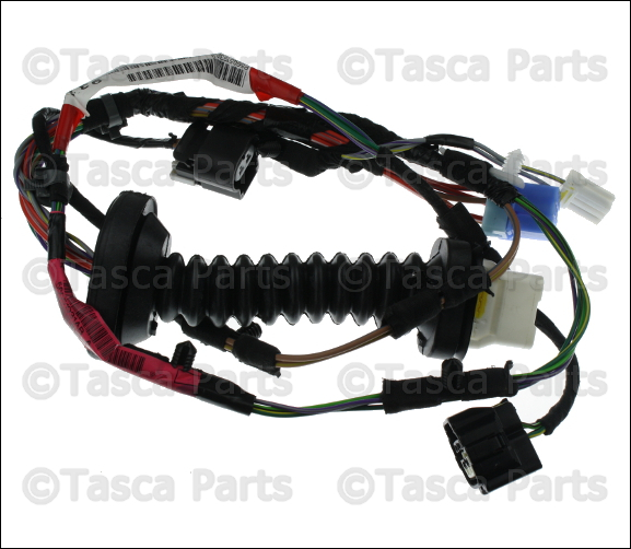 new oem mopar rh or lh rear door wiring harness dodge ram. Black Bedroom Furniture Sets. Home Design Ideas