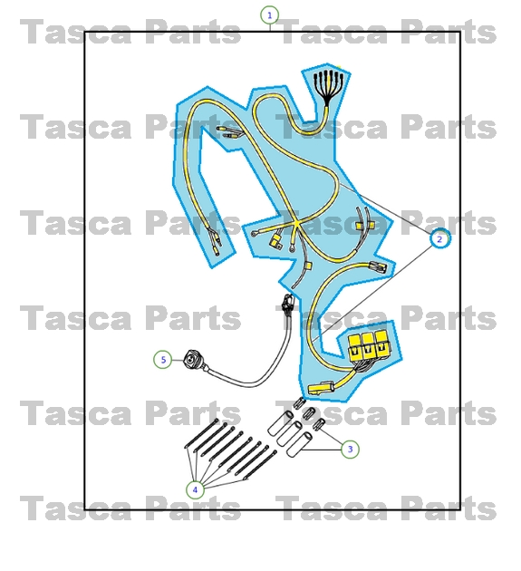 BRAND NEW OEM MOPAR FOG LIGHT LAMP WIRING HARNESS 2009