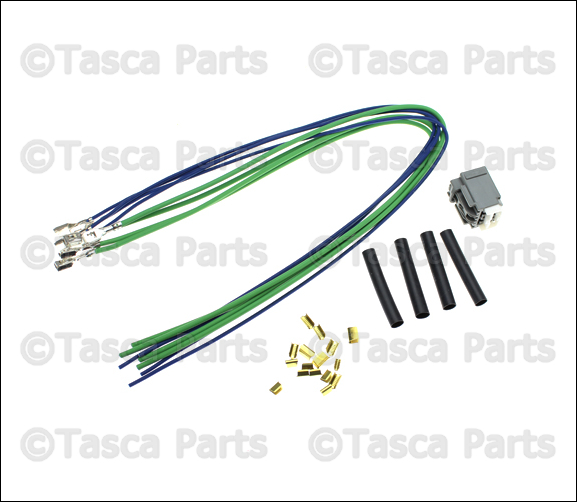 new oem mopar 4 way wiring connector 2007 15 dodge. Black Bedroom Furniture Sets. Home Design Ideas