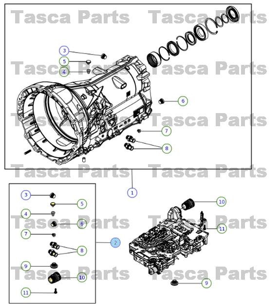 2013 Dodge Charger Transmission: OEM TRANSMISSION PLUG KIT 2013 DODGE RAM 1500 2012-13