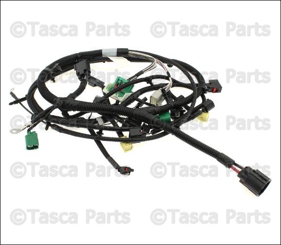 New Oem Mopar Headlight Wiring Harness 2014 Jeep Wrangler 4wd 3 6l  68217542aa