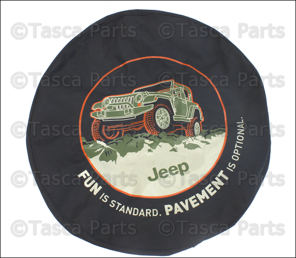 Oem Fun Is Standard Logo Black Denim Spare Tire Cover 2007