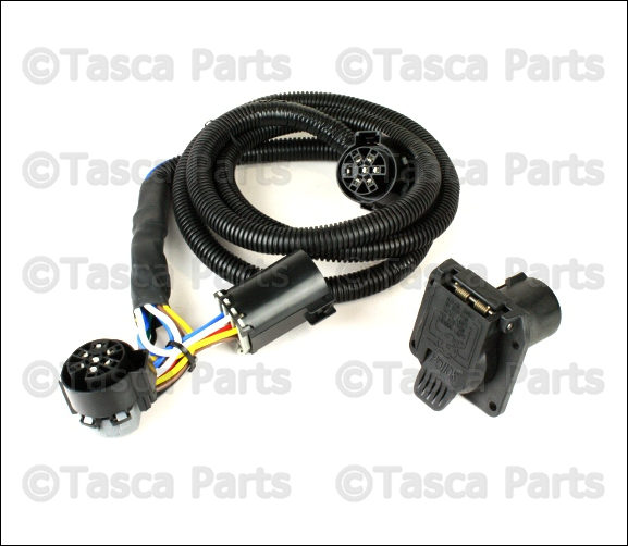 oem 7 way connector trailer tow wiring harness 2010 2013 dodge ram 2500 ram 3500 ebay