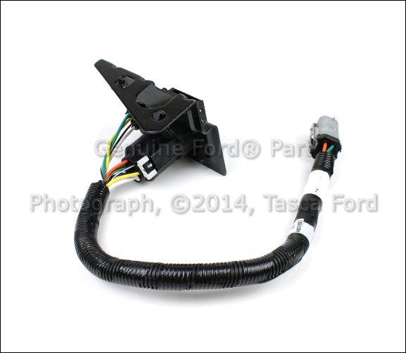 2015 ford f 150 7 pin trailer wiring harness new oem 4 pin & 7 pin trailer tow wire wiring harness kit ...