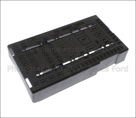 new oem fuse panel top cover located under rh dash f250. Black Bedroom Furniture Sets. Home Design Ideas