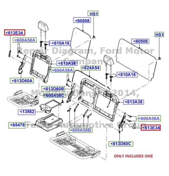 New Oem Rh Rear Seat Back Latch Handle F250 F350 F450 F550