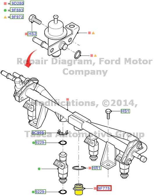ford explorer fuel pulse dampener