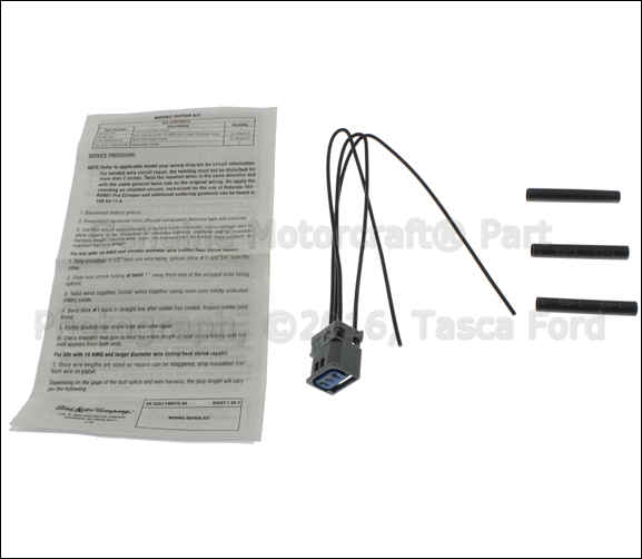 new oem 3 cavity pigtail wiring harness ford lincoln. Black Bedroom Furniture Sets. Home Design Ideas