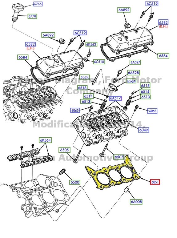 brand new oem 3.8l 3.9l 4.2l v6 engine cylinder head rh ... gm 3 8l engine diagram