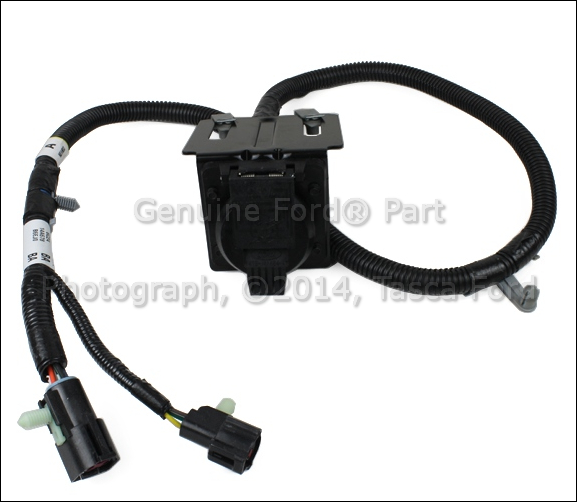new oem trailer tow 7 pin wire wiring harness connector ... ford 7 wire trailer plug harness wiring diagram for 7 wire trailer plug