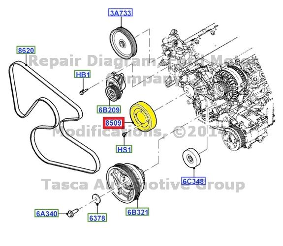 new 3 8 3 9l 4 2l v6 engine drive belt pulley ford freestar mercury monterey ebay