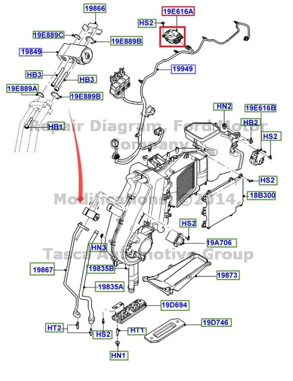 2004 Ford Taurus Blend Door Actuator Location