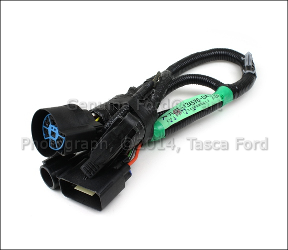 oem 7 pin connector to trailer wiring harness 05 07 ford f 150 5l3z13a576ba