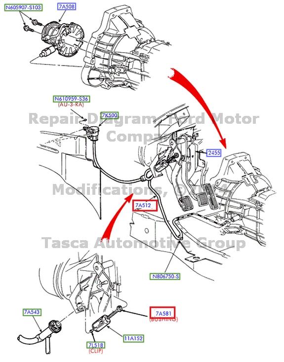 New oem clutch master cylinder rod retainer f series sd ranger explorer sport ebay