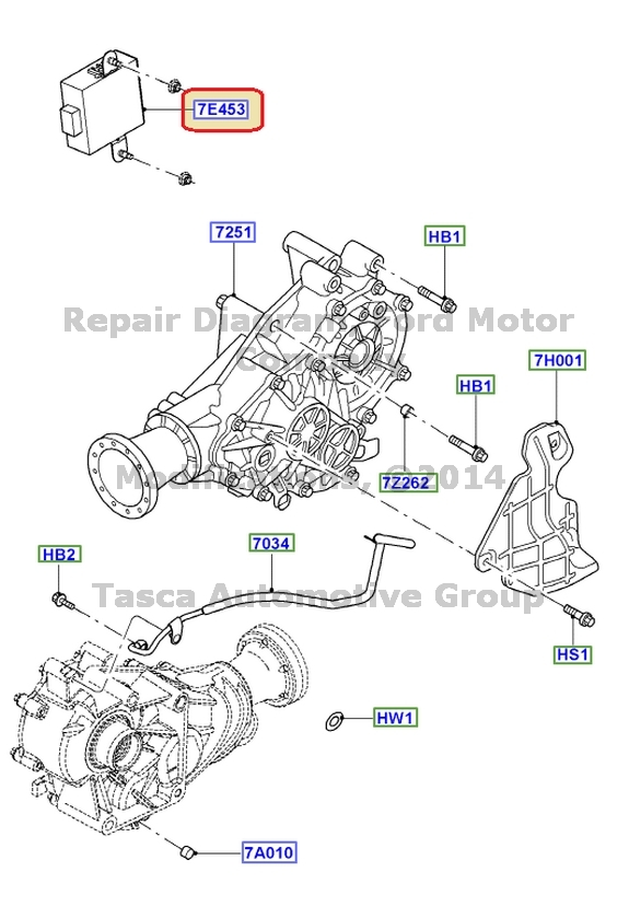 ford truck transmission parts list
