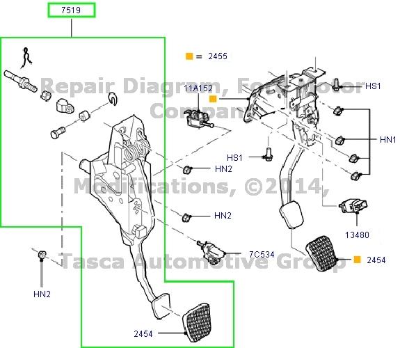 New Ford Mercury Oem Manual Transmission Clutch Pedal Assy  6m8z