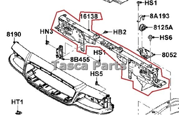 2001 grand marquis cooling diagram new oem radiator support 2006-2011 ford crown victoria ...