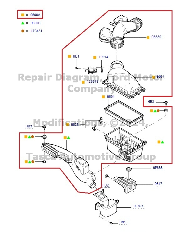 new air cleaner assembly 2006 2007 ford fusion mercury milan 7h6z 9600 a ebay