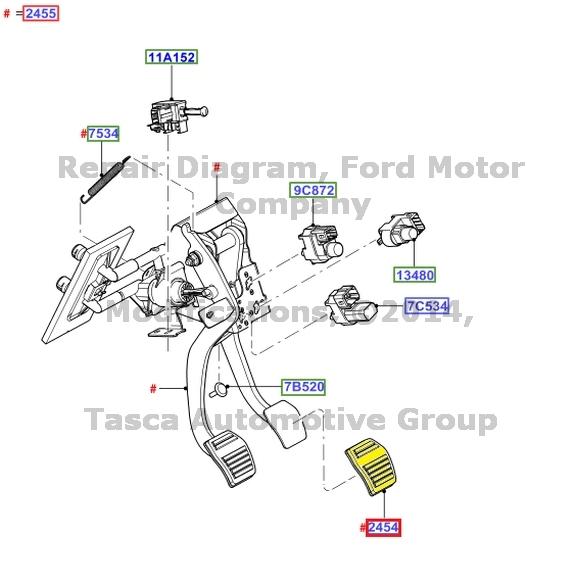 ford rear brake calipers diagram