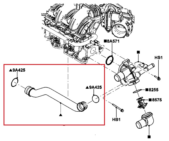 New Ford Lincoln Mercury Oem Thermostat Housing Hosepipe 7t4z Rhebay: Ford Edge Thermostat Location At Elf-jo.com