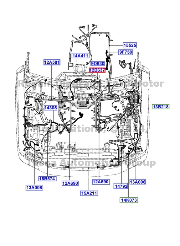 New Oem Main Engine Transmission Wiring Harness 08
