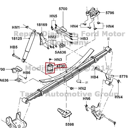 BRAND NEW OEM RH OR LH  REAR AXLE LEAF SPRING BUMPER 2008-2011 FORD F250 F350 SD
