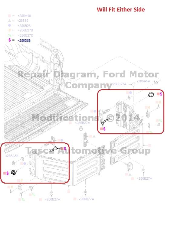 NEW OEM TAILGATE STUD 2009-13 F150 MARK LT 2008-13 F250 350 F450 F550 SUPER DUTY