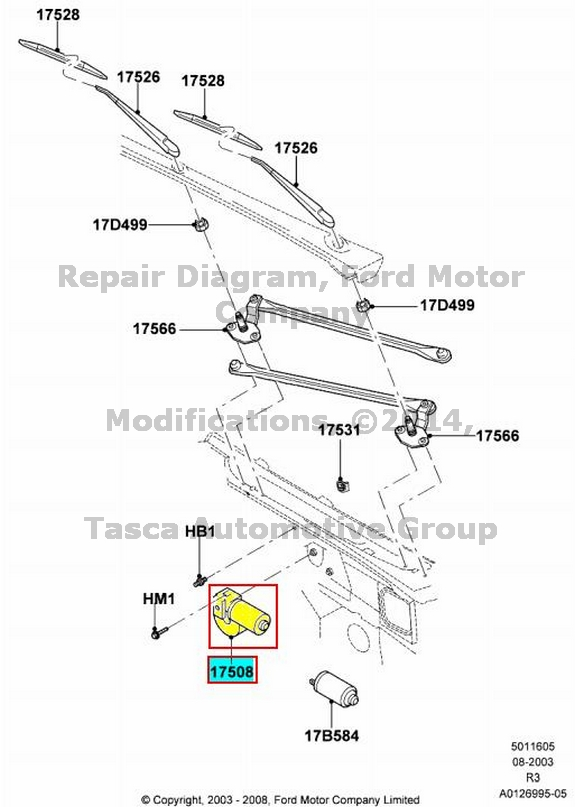 new oem windshield wiper motor 2008
