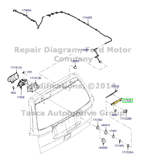 NEW OEM REAR WINDOW WIPER ARM 2008-2012 FORD ESCAPE