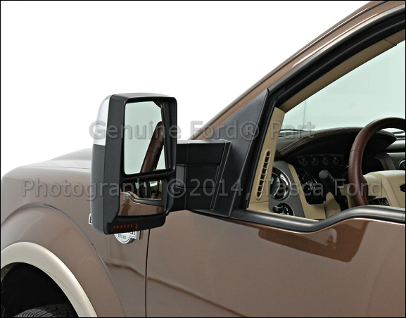 brand new oem lh side trailer tow mirror 2009 2013 ford f 150 ebay. Black Bedroom Furniture Sets. Home Design Ideas