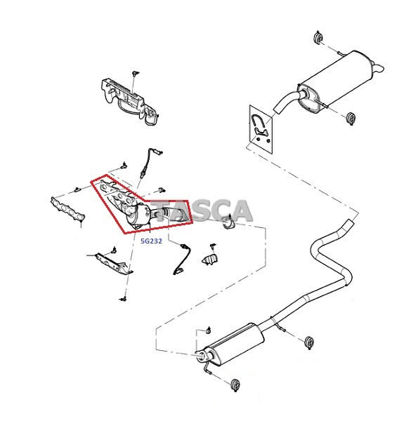 oem exhaust manifold and catalyst assembly 2011 2013 ford. Black Bedroom Furniture Sets. Home Design Ideas