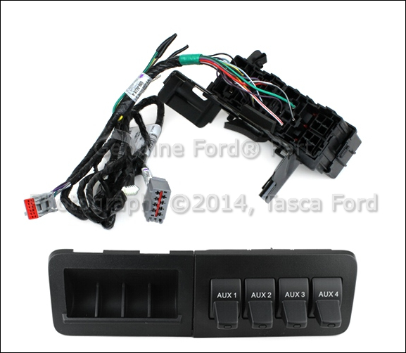 new oem in dash upfitter switch kit 2011 15 ford f250 f350. Black Bedroom Furniture Sets. Home Design Ideas