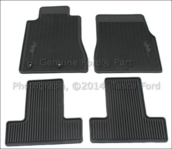 brand new oem black all weather vinyl rubber floor mats. Black Bedroom Furniture Sets. Home Design Ideas