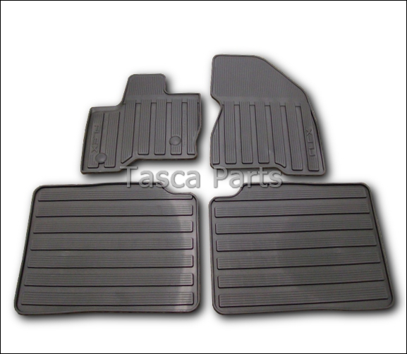 BRAND NEW OEM BLACK ALL WEATHER VINYL RUBBER FLOOR MATS