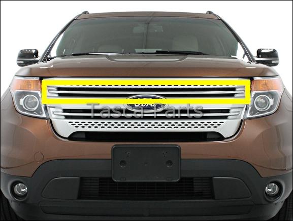 new oem chrome upper front grille 2011 2013 ford explorer sport xlt limited ebay. Black Bedroom Furniture Sets. Home Design Ideas
