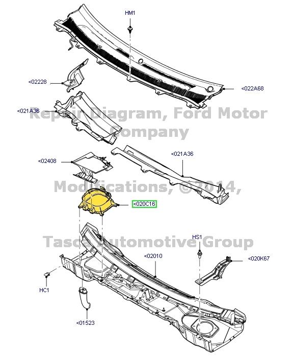 2015 Lincoln Mks Camshaft: NEW OEM RH SIDE COWL PANEL VENT MKS MKT FLEX TAURUS