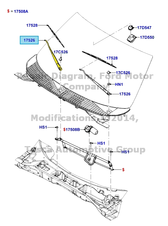 ford expedition rear wiper blade