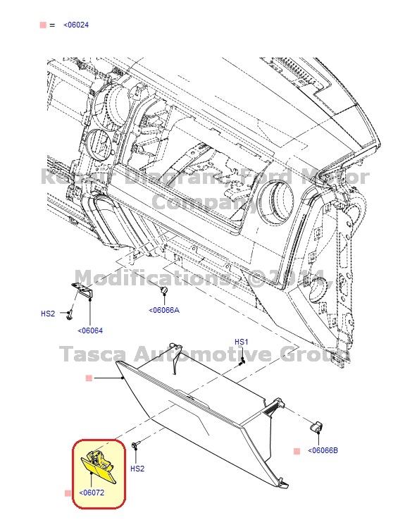 new oem glove box door latch lock ford f150 f250 f350 f450