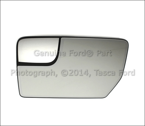 New Oem Lh Drivers Side Mirror Glass W Integrated Spotter