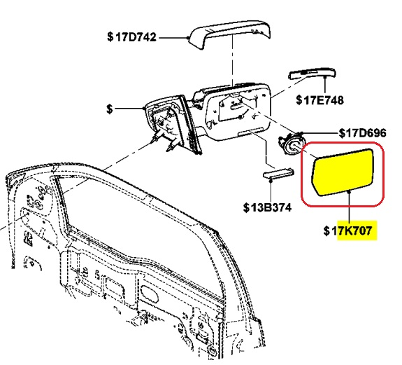 ford f150 side mirror replacement