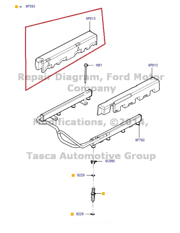New Oem Rh Side Fuel Rail Insulator 2011 2013 Ford F 150