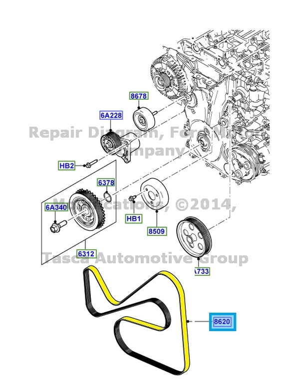 new oem engine drive belt 2011