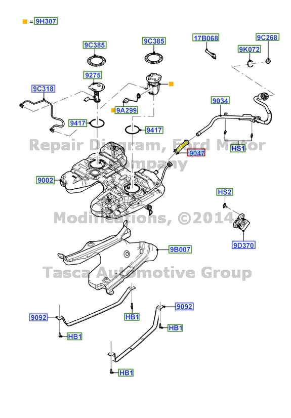 BRAND NEW OEM FUEL TANK FILLER PIPE HOSE 2011-2013 FORD EDGE /& LINCOLN MKX